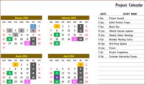 Yearly Event Calendar Template Excel Calendar Template Excel Calendar 2019 2020 Or Any Year