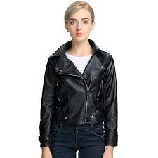 maylina autumn winter woman soft slim pu faux women short pink leather jacket motorcycle outwear 2017