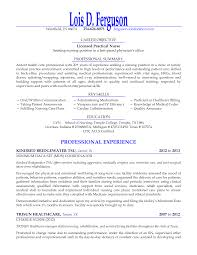 Example Of A Lpn Resume Professional Resumes Sample Online