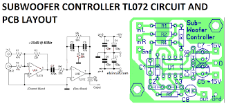 subwoofer controller uses a single ic tl072 circuit diagram a v subwoofer controller uses a single ic tl072 circuit diagram