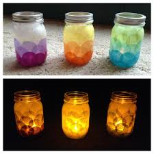 Decorating Glass Jars With Tissue Paper DIY Candle Holders Tissue paper glued with modge podge onto a 2