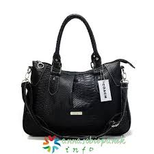 Coach Madison Embossed Medium Satchels Black