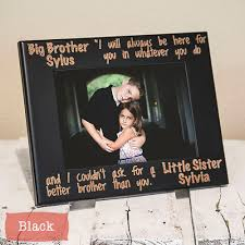 personalized brother and sister frame the gifted oak