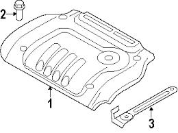parts com® hyundai sonata engine appearance cover oem parts 2005 hyundai sonata gl l4 2 4 liter gas engine appearance cover