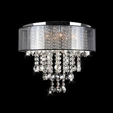visalia chrome 9 light flushmount chandelier jpg pertaining to flush mount crystal remodel 7