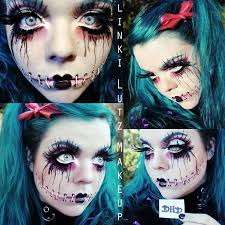 make up look inspirations 萬聖節彩妝寶典 scary doll