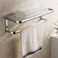 towel hanger. Hiendure®Brass Wall-mounted Towel Rack Hanger Holder Organizer Bar Bathroom Shelf (23\ L