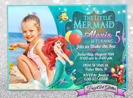 Free Little Mermaid Birthday Invitation Templates 18 Personalized Birthday Invitations Psd Vector Eps Ai