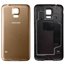 samsung galaxy s5 copper gold. official samsung galaxy s5 battery cover case - copper gold ef-og9008f p