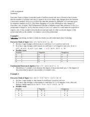 205bprecalc Docx 2 05b Assignment Summary Descartes Rule