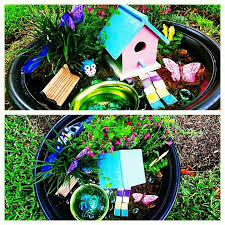 pinner says fairy garden items purchased from home depot hobby lobby and dollar tree