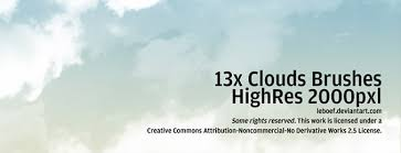 Cloud Photoshop Brushes 13 High Resolution Photoshop Cloud Brushes Download Download