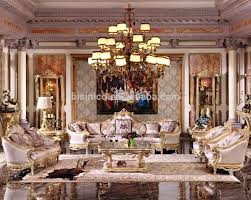 Luxury Living Room Furniture Luxury French Baroque Bright Color Living Room Sofa Set Royal