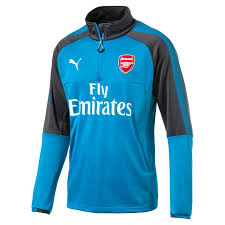 puma 17 1. puma arsenal 17 1/4 zip training top blu 1