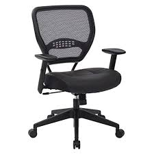 Image Stylish Space Seating Professional Airgrid Dark Back And Padded Black Eco Leather Seat 2to Amazoncom Most Comfortable Office Chair Amazoncom