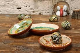 Small Decorative Plates Madeheart Set Of Handmade Small Decorative Painted Clay Wall