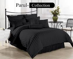luxury soft hotel collection black stripe 1000 tc 100 cotton us bedding all size