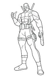 Dead Pool Coloring Pages Lovely Deadpool Coloring Pages Printable