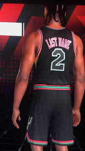 The new black alternate uniform's efficient jersey design simply features the iconic spurs logo prominently over the heart, while the player numbers rest on the right breast, the post read, in part. Playing In Mygm Mode In 2k And Hopefully Made Next Years Alternate Jerseys For The Spurs Nbaspurs