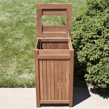 decorative outdoor garbage cans. wood outdoor trash can decorative garbage cans