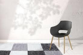 Ontwerper Shell Stoel Dining Chair Stoel Houten Woonkamer Stoel Set Van 2 Zwart