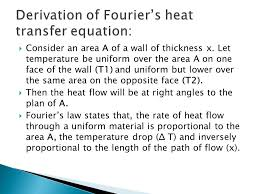 9 derivation of fourier s heat transfer equation