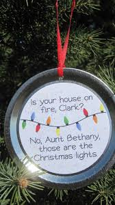 Griswold Christmas Vacation funny movie quote recycled jar/can lid Christmas  ornament: Is your