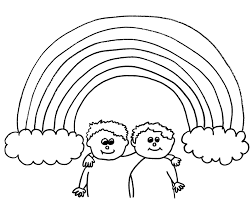 rainbow coloring pages. Delighful Pages Rainbows Coloring Pages And Rainbow B