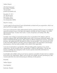 Cover Letter Samples Administrative Assistant Gallery Of General