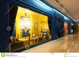 Show Window Lighting Luxury Home Lighting Furniture Shop Window Stock Photo