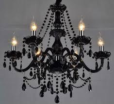jeweled black chandelier black glass crystal chandelier black glass crystal model 48