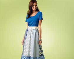 the Anywhere Skirt Pattern Blue Maize
