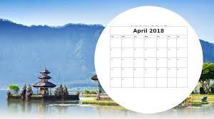 april calendar 2018 indonesia free printable templates download