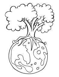 Small Picture Protect environment is the message of the Earth Day coloring page