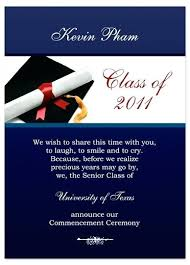 Graduation Invitation Examples Of Announcements Inserts Templates