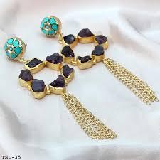 druzy tel earrings