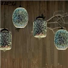 Moderne Led Keuken Lichtpunt Opknoping 3d Lamp Met Glazen