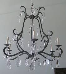 iron and crystal chandelier also modern wrought