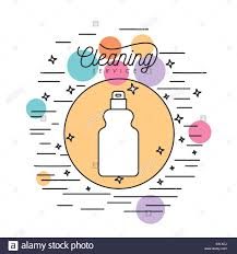 Decorative Spray Bottle spray bottle cleaning service silhouette in circular frame with 58