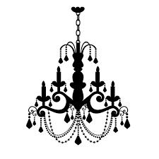 drawn chandelier wall decal 6