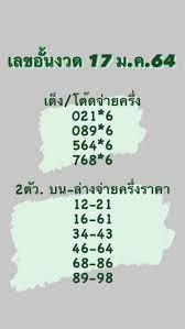 เลขอั้น 17 มกราคม 2564
