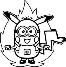 Small Picture Minion Pokemon Coloring Pages Wecoloringpage