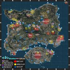 PUBG Mobile Erangel Map Refference ...