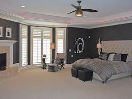bay window master bedroom. Simple Bay Contemporary Master Bedroom With Stone Fireplace Bay Window In To A