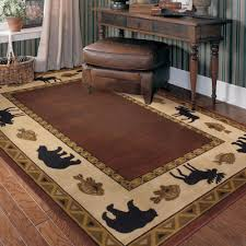 country style area rugs luxury decorating rustic rug of unique photos home improvement pine cone dining room cottage kitchen wildlife living western