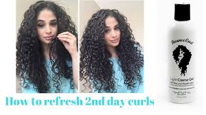 Second Day Curly Hairstyles Refresh Second Day Curls With Bounce Curl Youtube