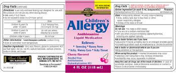 Children's Allergy - FDA prescribing information, side effects and uses