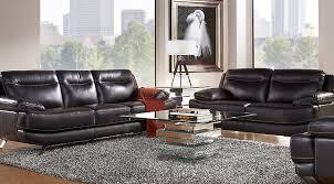 sofia vergara castilla black leather 3 pc living room from furniture black leather living room