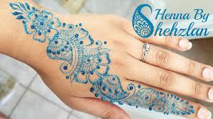 Henna Glitter Designs Henna By Shehzlan How To Henna Tutorial 131 Glitter Strip