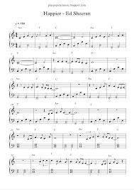ed sheeran sheet music play popular music happier ed sheeran